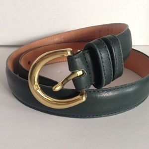 Coach Genuine Leather Forest Green Belt